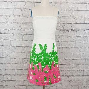 Lilly Pulitzer Strapless Dress Sz 8